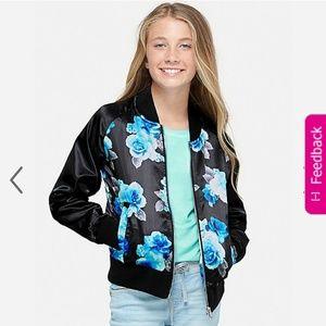 Justice girl's satin bomber jacket, 8/10